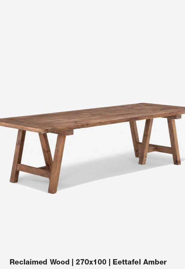 Eettafel 'Amber' | 270×100 | Reclaimed wood