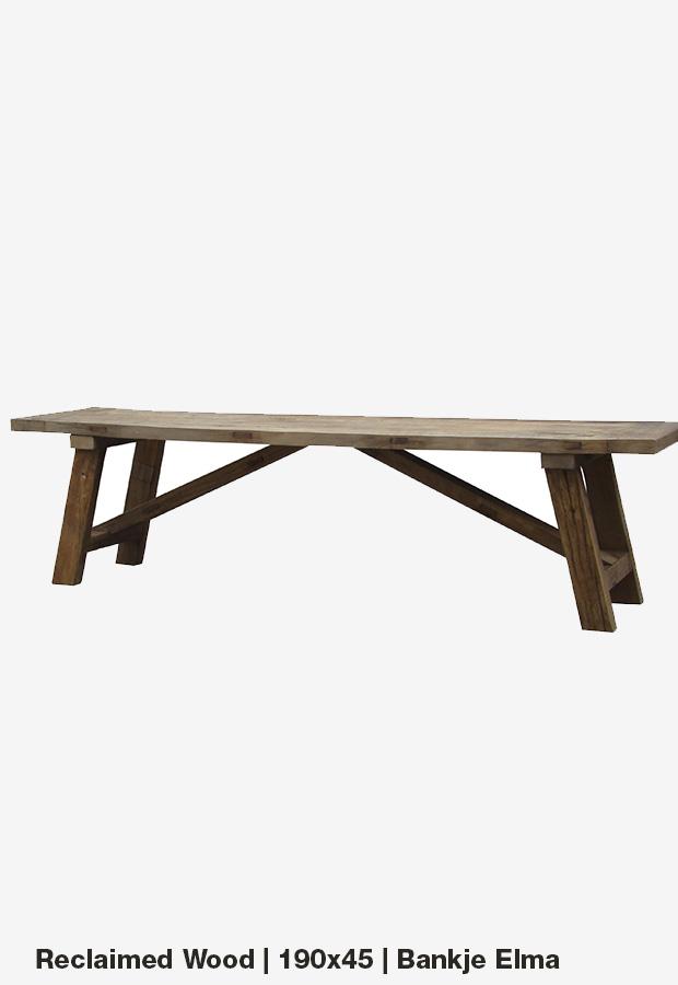Bankje 'Elma' |190×45 | Reclaimed wood