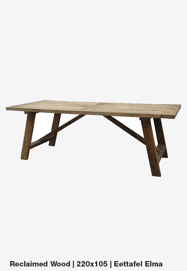 Eettafel 'Elma' |220×105 | Reclaimed wood