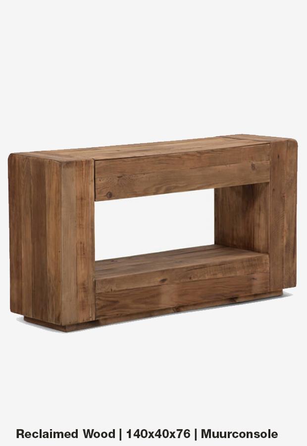 Muurconsole | 140×40 | Reclaimed wood