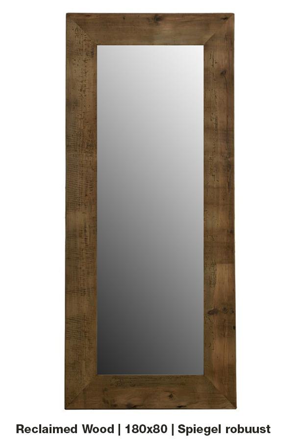 Spiegel 'Robuust'| 180×80 | Reclaimed wood