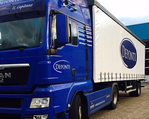 Vrachtwagen van Deponti