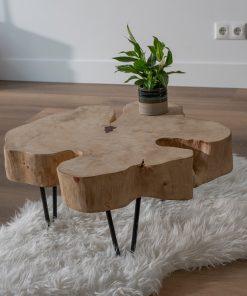 Runde Tamarinden-Tischplatten