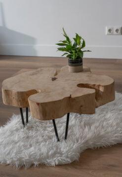 Plateaux de table ronds en tamarin