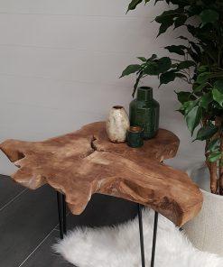 Runde Teak-Tischplatten